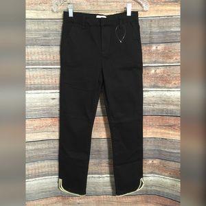 Modcloth cropped black hi hrise chino pants NWOT